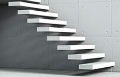 Betonnen trap: ter plaatse gegoten betontrap & préfab betontrap info