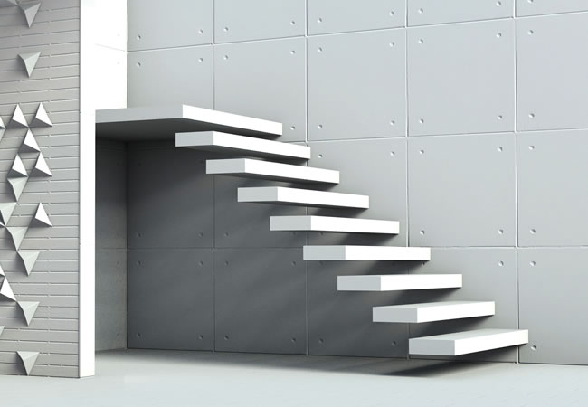 Trap in beton